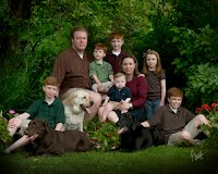Tucker and Marya Gibbons with their children and dogs